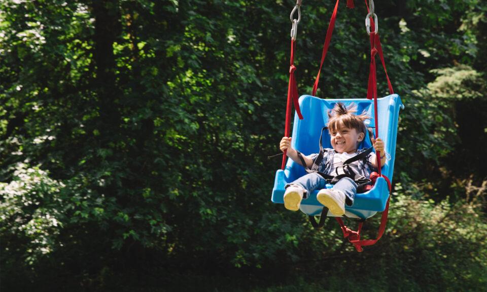Activity of kid zipline