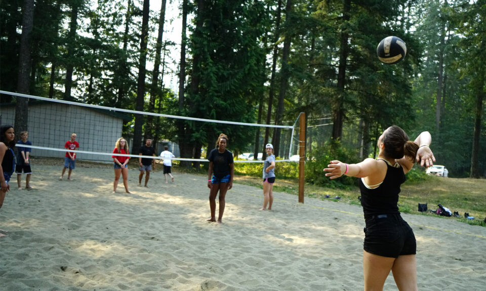 Activity of sand volleyball